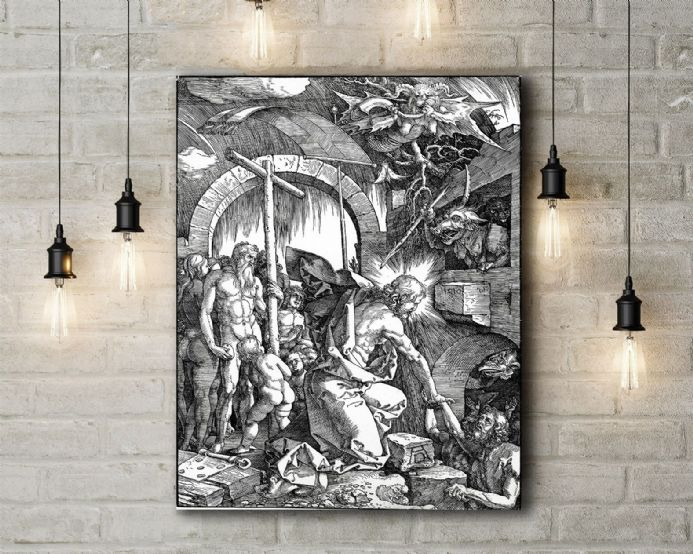 Albrecht Durer: Christ's Descent into Limbo. Fine Art Canvas.